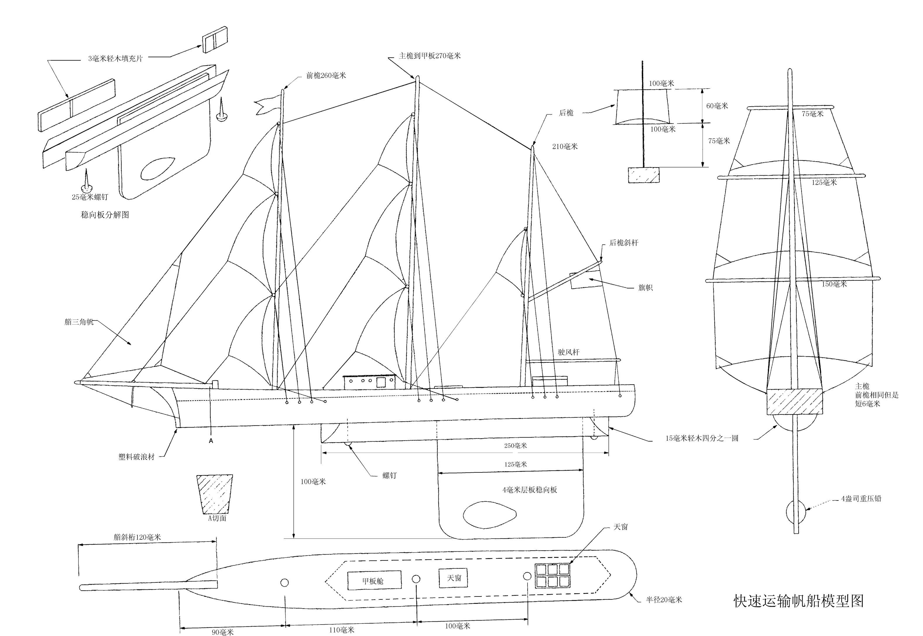 迷你快速帆船模型 - yinghu83 - yy的冥想酒吧